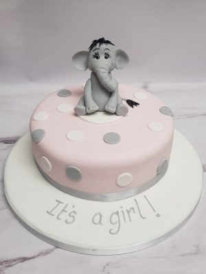baby shower cake|elephant cake