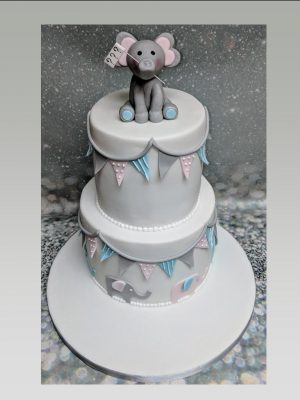 baby shower cake|elephant cake