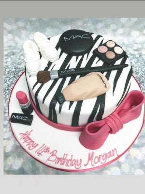 make up cake|zebra print cake