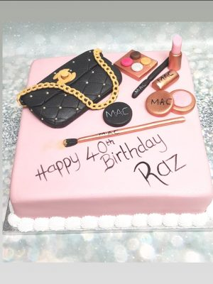 make up cake|bag cake