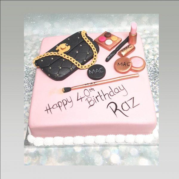 make up cake bag cake