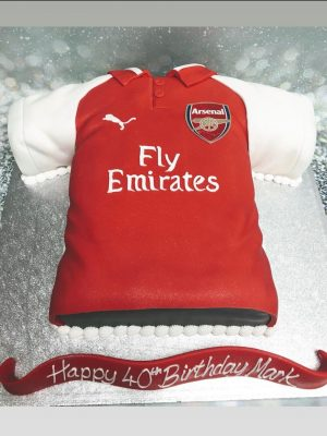 Arsenal cake|football shirt cake