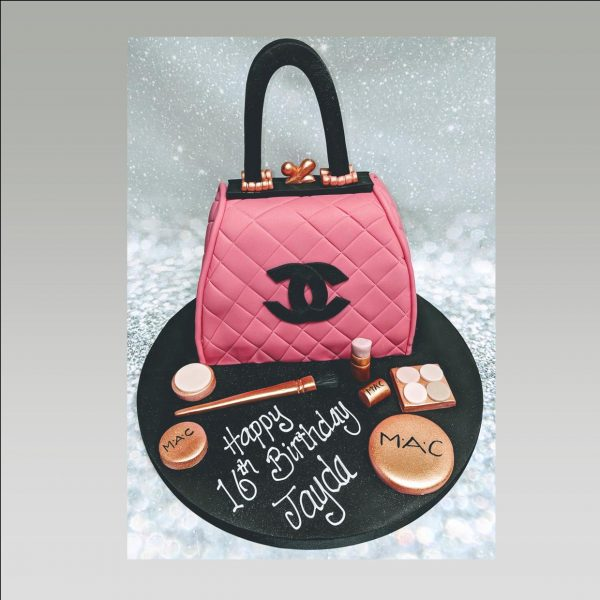chanel cake|make up cake| chanel bag cake