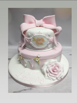 christening cakes for girls|2 tier christening cake|baby shower cake