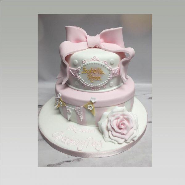 christening cakes for girls|2 tier christening cake|baby shower cake