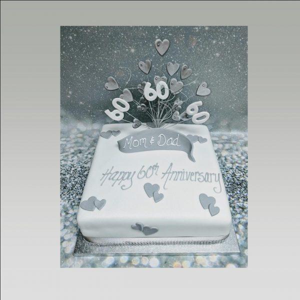 60th anniversary cake|diamond anniversary cake