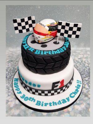 formula 1 cake|lewis hamilton cake|jenson button cake