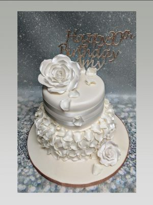 flower and frills cake