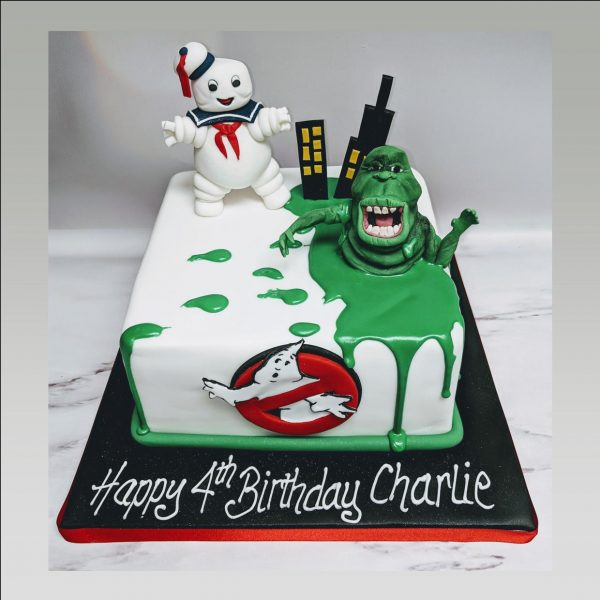 ghostbusters cake|ghost busters 2 cake|birthday cake