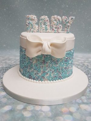 Baby shower cake for boy|baby reveal cake