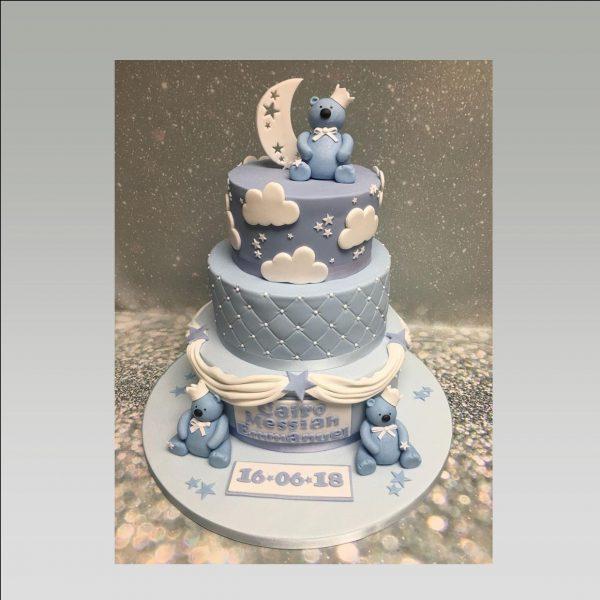 3 tier christening cake|boys christening cake