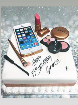 I Phone cake|make up cake