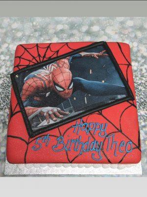edible picture cake|spiderman cake