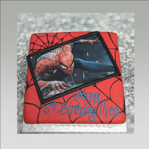 edible picture cake|spiderman cake