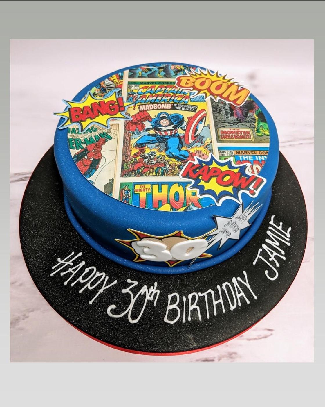 marvel cake avengers cake super hero cake