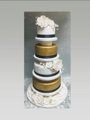 indian wedding cake|gold wedding cake|4 tier wedding cake