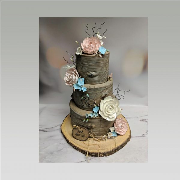wedding cake|bark wedding cake|wood wedding cake|tree wedding cake