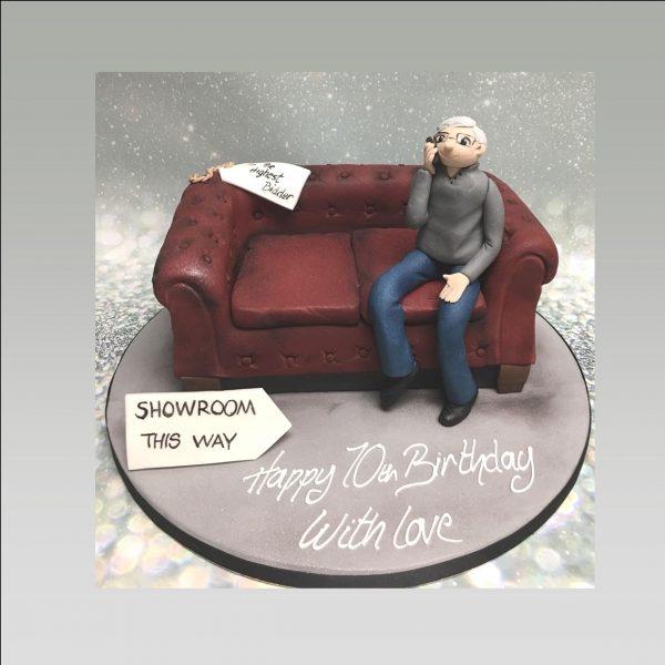 sofa cake|mens cake