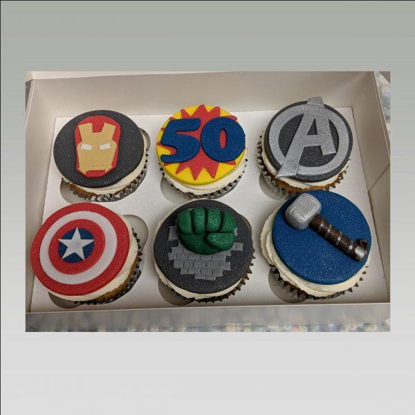 marvel cupcakes|avengers cupcakes|super hero cupcakes|iron man cupcakes|captain america cupcakes|hulk cupcakes|thor cupcakes