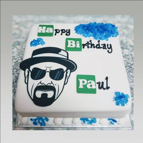 breaking bad cake|birthday cake