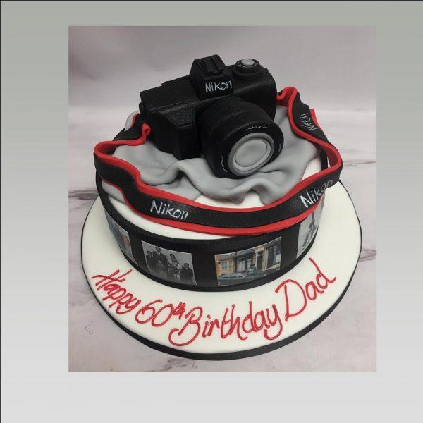 camera cake|photography cake|photo cake