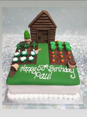 gardening cake|garden shed cake