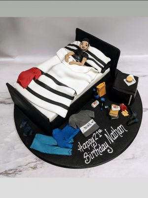 bed cake|messy bed cake|cakes for teenager