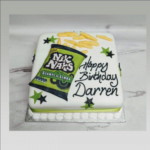 crisp packet birthday cake
