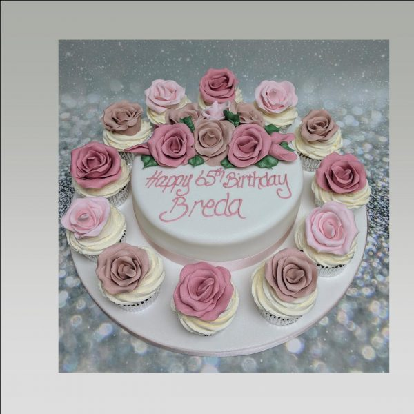 rose cupcakes|ladies cakes