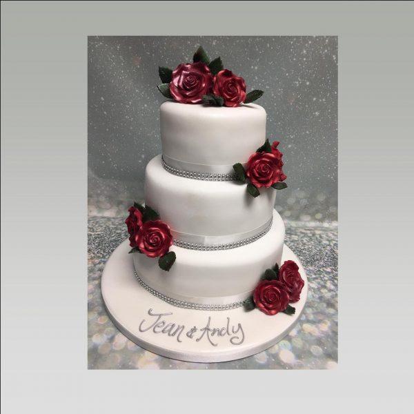 ruby anniversary cake|40th anniversary cake
