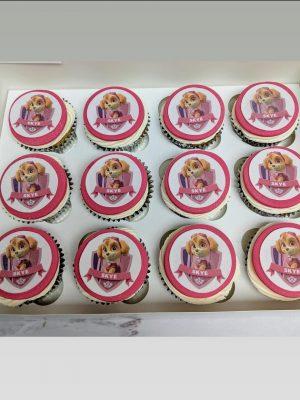paw patrol cupcakes|skye cupcakes