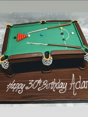 snooker cake|pool table cake