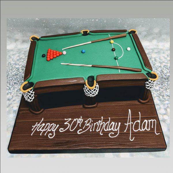 snooker cake|pool table cake