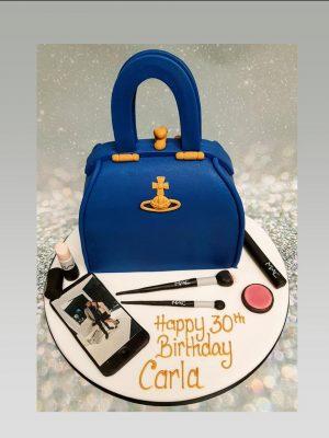 Vivienne Westwood bag cake|ladies cake|make up cake