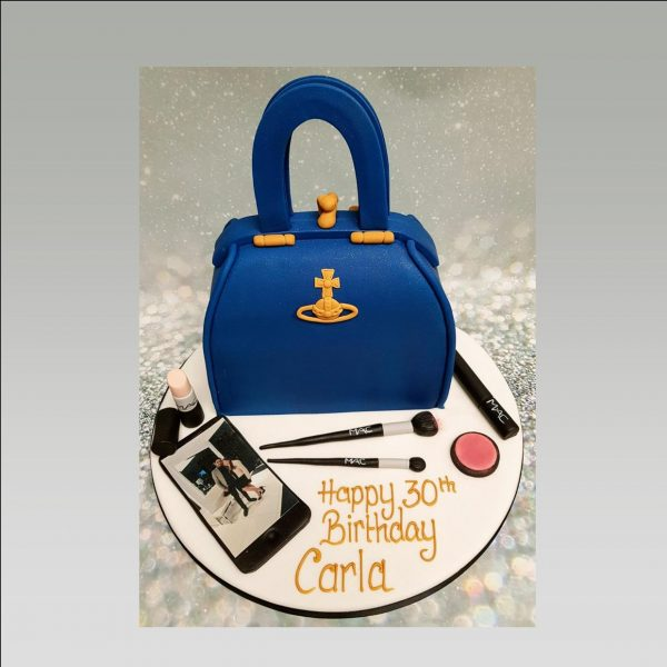 Vivienne Westwood bag cake|ladies cake|make up cake