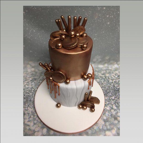 marble cake|rose gold cake|drip cake