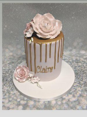 drip cake|roses cake