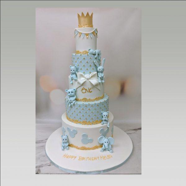 1st birthday cake/mickey mouse cake/crown cake/christening cake