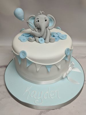 elephant cake/baby shower cake for boys