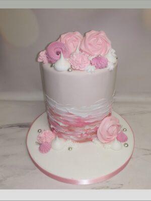 ladies cake,pink cake