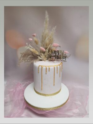 ladies cake,dried flowers cake, tall cake