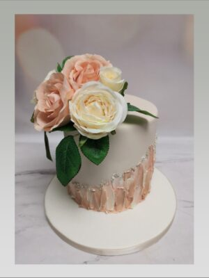 silf flowers, ladies cake, flower cake