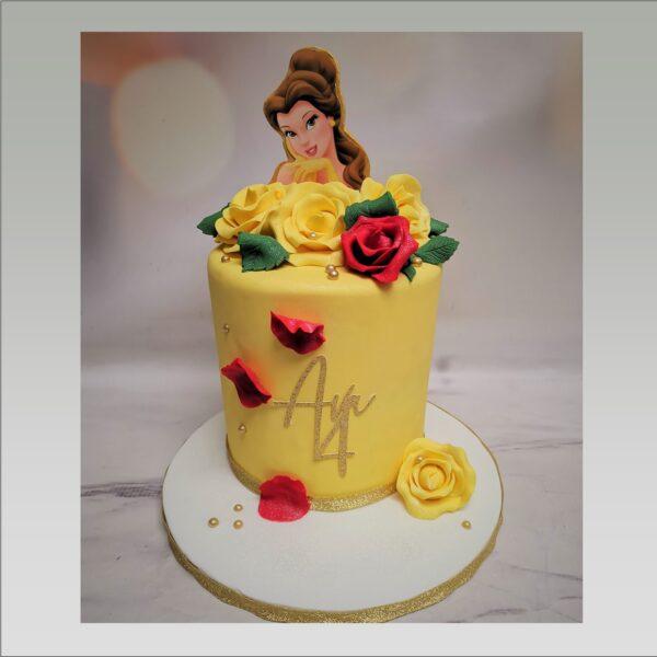 beauty and the beast cake,disney cake