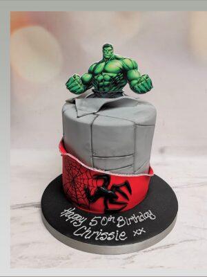 hulk cake,spiderman cake,avengers cake