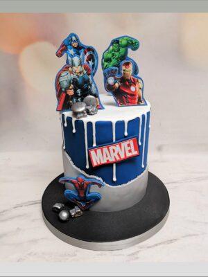 marvel cake, spider man cake, hulk cake