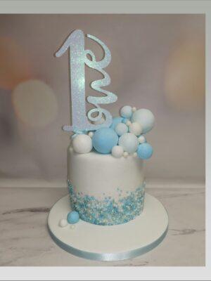 age 1 cake,baby boy cake