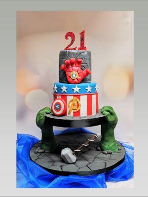 avengers cake,super heroe cake,spider man cake