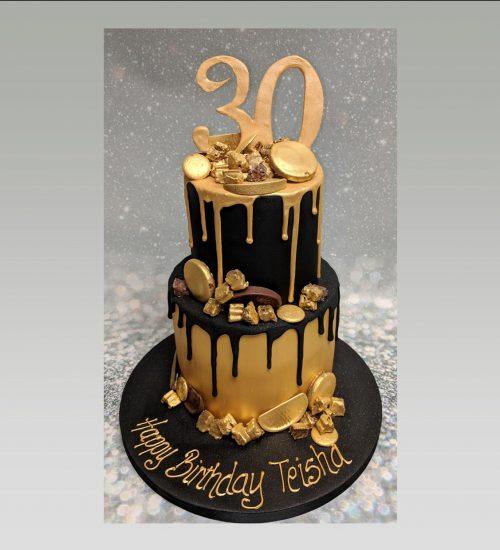 2 tier drip cake|chocolate cake
